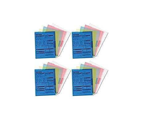 Smead Project Jackets, Letter, Poly, Clear/Translucent: Blue/Green/Yellow, Pack of 5, 4 Packs