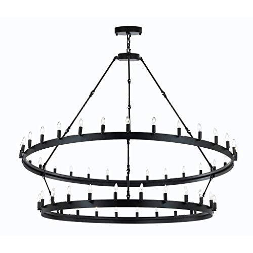 Wrought Iron Vintage Barn Metal Castile Chandelier Chandeliers Industrial Loft Rustic Lighting