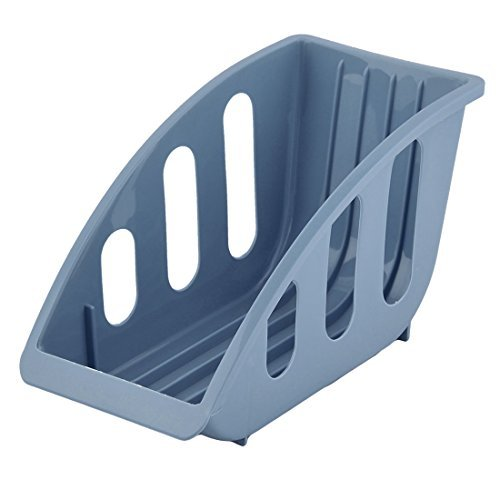 DealMux Plastic Household 5 Slots Dish Plate Holder Stacking
