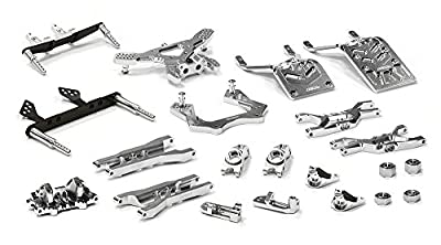 Integy Hobby RC Model T8651SILVER Billet Machined T3 Complete Suspension Kit for 1/10 Stampede 2WD