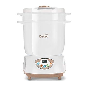 GUO@ Esterilizador de vapor para biberones, secador de bote de leche esterilizada Esterilización infantil, acero inoxidable, pote de esterilización: ...
