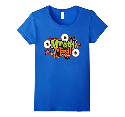 Womens Halloween Costume Shirt Monster Mash Cute Halloween Large Royal Blue