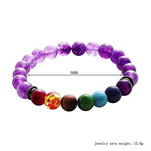 KESEE Volcanic Bracelet Owl Bracelet Gold Bracelet Lava Stone Bead Bracelets (Multicolor 985) ()