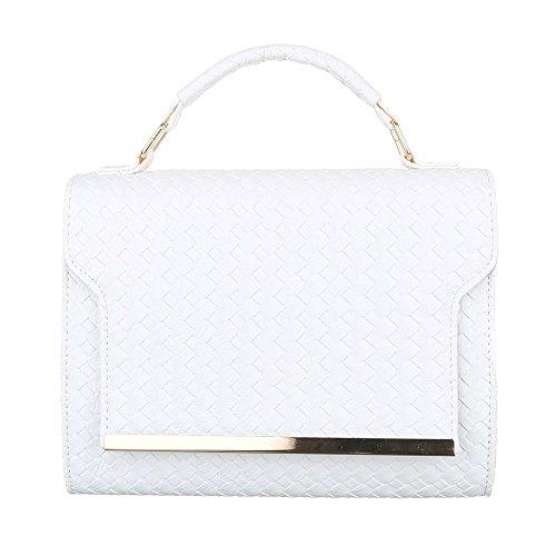 Ital-Design - Bolso al hombro de Material Sintético para mujer Weiß