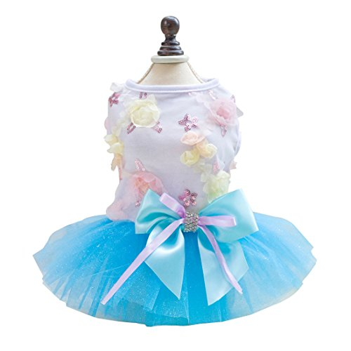 Tutu Dress Lace Skirt Cat Princess Dress Small Dog Clothes (M) - 1