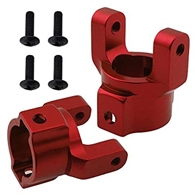 Hobbypark Aluminum Caster Mounts Steering Knuckles Base C Hub Carrier for Redcat Everest Gen7 PRO / Sport Replacement of 180003 (Set of 2) (Red): Toys & Games