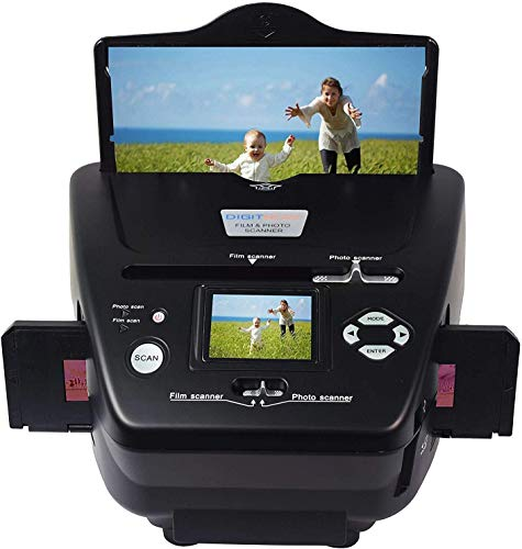 DIGITNOW All-in-One High Resolution 16MP Film Scanner, with 2.4″ LCD Screen Converts 35mm/135slides&Negatives Film Scanner Photo, Name Card