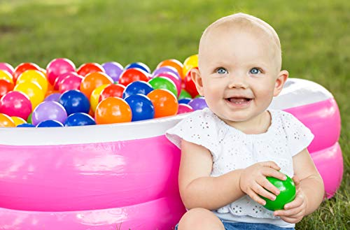 Soft Plastic Kids Play Balls – Non Toxic, 50 Phthalate & BPA Free - Crush Proof & No Sharp Edges; Ideal for Baby or Toddler Ball Pit, Kiddie Pool, Indoor Playpen & Parties, 50 Balls by FoxPrint (Image #4)