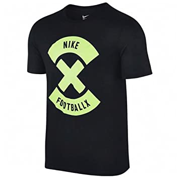 Nike X Glow Camiseta de Fútbol de Manga Corta, Hombre, Negro/Verde (