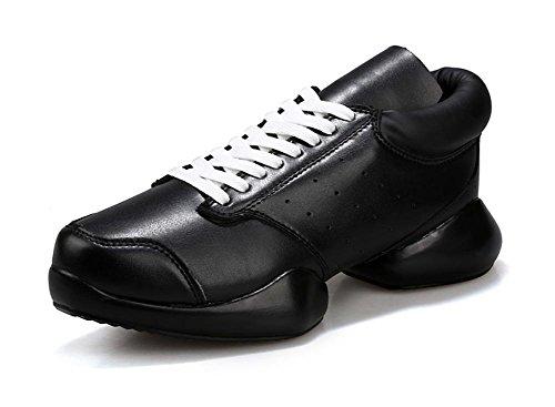 Hufeisen mit ein paar High-Top Sneaker Schuhe Herbst Schuhe Aufzug Schuhe Frau Black