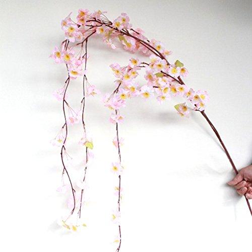 山久 シルクフラワー しだれ桜 の大枝 12本セット FLS-0069 1801142-12 T触 店舗装飾用 造花 B00SMOIRUG