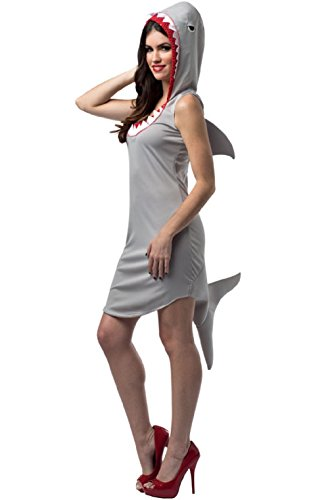 [Shark Attack Dress Up Animal Adult Costume] (Shark Attack Adult Costumes Kit)