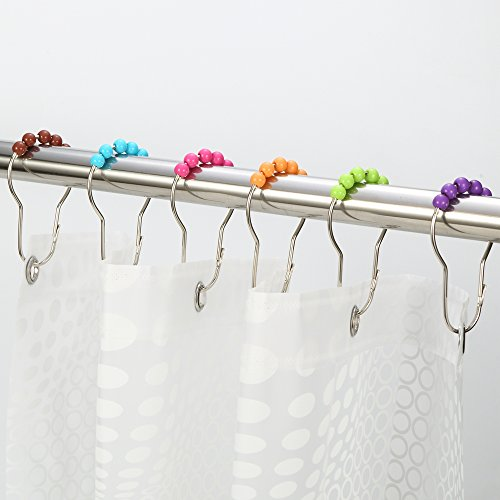 Decorative Curtain Rings Amazer Rustproof Bathroom Colorful