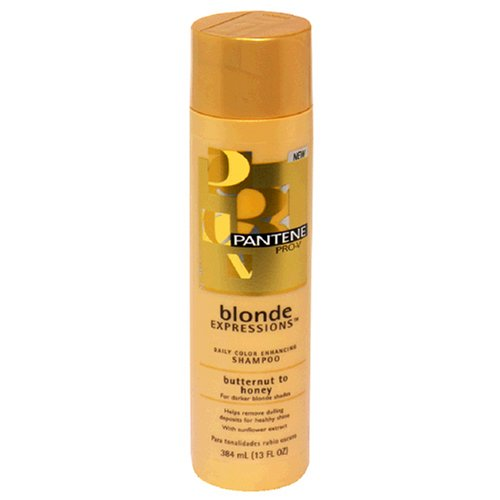 Density Enhancing Shampoo - Pantene Pro-V Blonde Expressions Daily Color Enhancing Shampoo for Darker Blonde Shades, Butternut to Honey, 13 fl oz (384 ml)