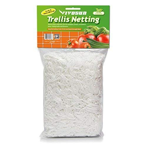 VIVOSUN Heavy-Duty Polyester Plant Trellis Netting 5 x 15ft 1 Pack - Flower Bed Tent