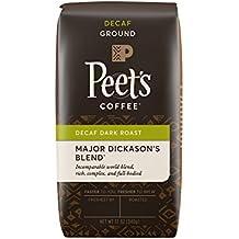 Peet's Coffee, Decaf Major Dickason's Blend Ground, Dark Roast, 12-Ounce