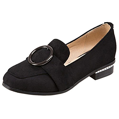Black Shoes On Spring Slip Flat Women's 6244 TAOFFEN P7wgHxvc