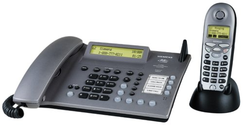 - Siemens 8825 Gigaset 2.4 GHz 2-Line Expandable Cordless Speakerphone with Answering System