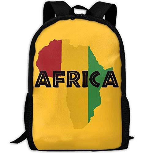 Africa Print Custom Casual School Bag Backpack Multipurpose Travel Daypack by REDCAR