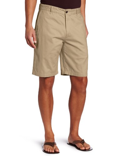 Chino Washed Cotton Cap - Dockers Men's Classic-Fit Perfect-Short - 36W - New British Khaki (Cotton)