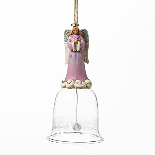 Jim Shore Heartwood Creek Angel Glass Bell Hanging Ornament