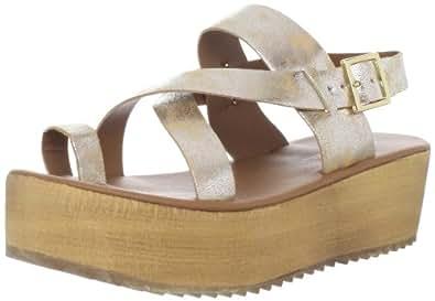 C Label Women's Mollini-2 Platform Sandal,Gold,5.5 M US