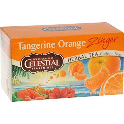 - Celestial Seasonings Herbal Tea - Caffeine Free - Tangerine Orange Zinger - 20 Bags