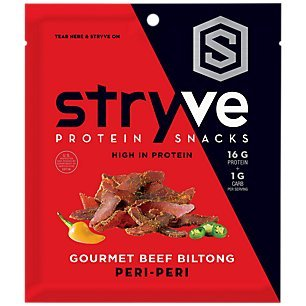 Beef Biltong Peri-Peri, No Fat, Low Sugar, 16g Protein, 2.25oz