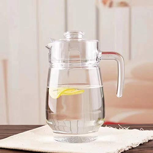 Happy Penguin's Classic Glass Water Jug with Lid   1.6L , Clear