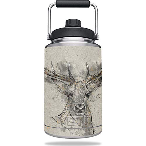 MightySkins Skin Compatible with YETI One Gallon Jug - Ink Buck | Protective, Durable, and Unique Vinyl Decal wrap Cover | Easy to Apply, Remove, and Change Styles | Made - Deer 1 Gallon Jug