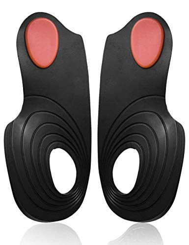 Arch Support Orthotic Shoes Inserts - Prevent Heel Pain, Bone spur, Plantar Fasciitis by Toe Glow (L Size (US Size Women:9-12 / Men: 7.5-10))