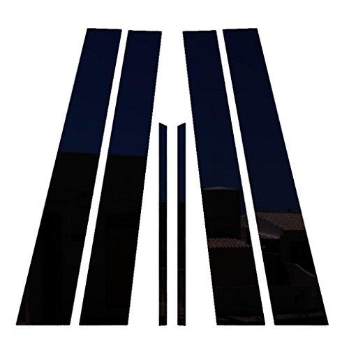 Ferreus Industries Piano Black Pillar Post Trim Cover fits: 2007-2011 Toyota Camry All Models PIL-013-GB (Toyota Camry Pillar)