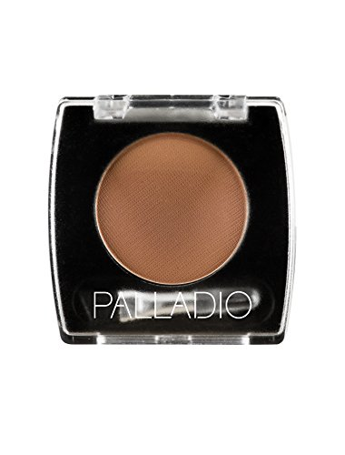 Palladio Brow Powder for Eyebrows, Auburn, Soft and Natural Eyebrow Powder with Jojoba Oil and Shea Butter, Helps Enhance & Define Brows, Compact Size for Purse or Travel, Includes Applicator Brush