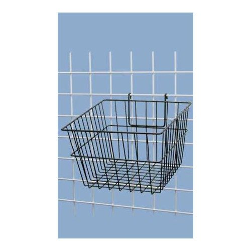 Black Powder Coat Finish Mini-grid Basket 12'' X 12'' X 8''