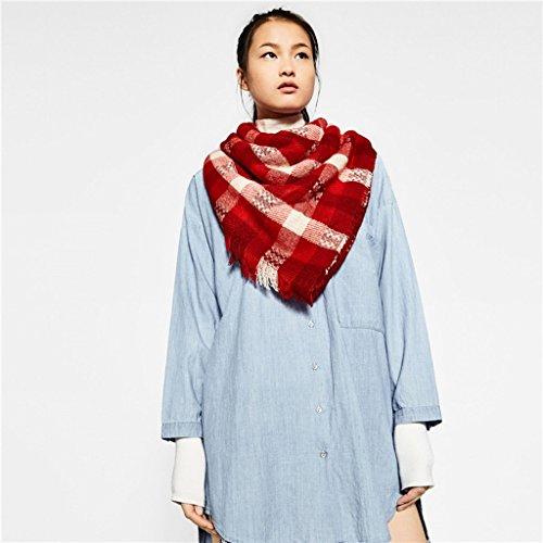 Enroulées autour du foulard rouge et blanc Double-checkered ( couleur : Rouge )