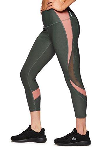 RBX Active Women's Workout Yoga Leggings Color Block Green XL