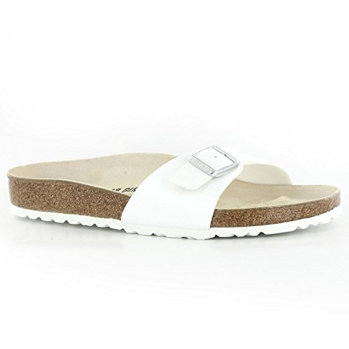 Birkenstock MADRID Ladies Buckle Mule Sandals White 42 (Buckle Mule Sandals)