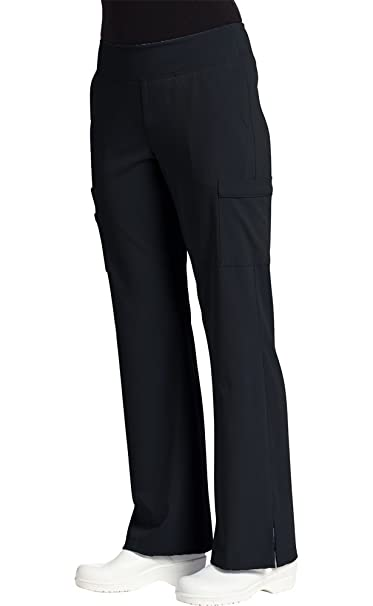 00bb090d933 Oasis Marvella by White Cross Women's Elastic Waist Yoga Scrub Pant X-Small  Tall Black