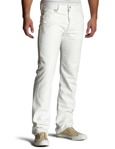 White Levi Jeans (Levi's Men's 501 Original Fit Jean,Optic White,34x32)