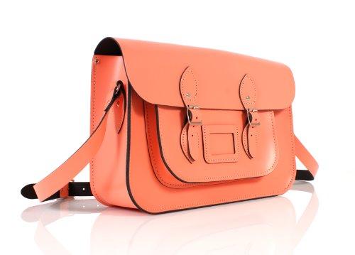 Oxbridge Satchel's - Bolso estilo cartera de cuero para mujer
