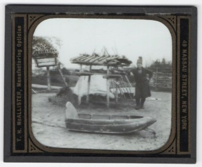 Magic Lantern Slide: Sweden, Djurgard - Lapp and Pulka (7733) by T. H. McAllister Co.