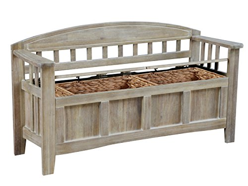 Linon BH137ACA01U Bench, Natural Wash ()