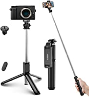 ELEGIANT Selfie Stick, aluminium-allt-i-ett Selfie Stick Bluetooth Selfie Stick Stick med trådlös fjärrkontroll för...