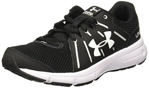 Under Armour Women's Dash 2 Running Shoes (6.5 B(M) US, Black/White)