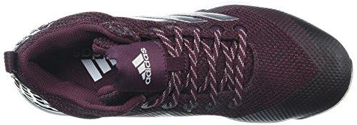 Scarpa Da Baseball Adidas Uomo Freak X Carbon Mid Marrone, Argento, Argento, Bianco Lucido, 7 M Us