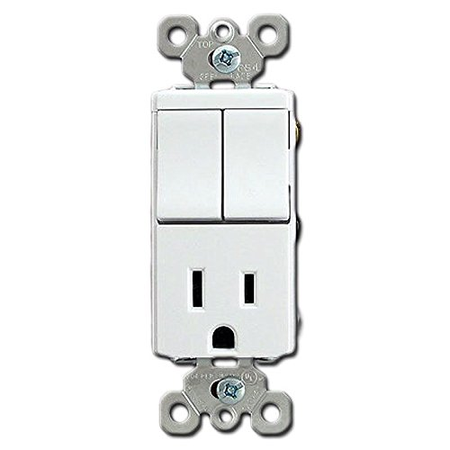 Pass & Seymour Decorator 2 Single Pole Switch with Outlet  T