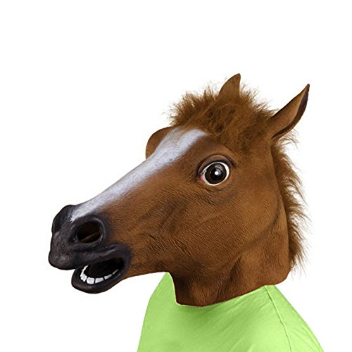 Halloween Costume Party Animal Head Mask - Brown (Full Horse Costume)