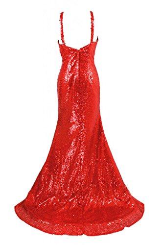 charmingbridal - Robe - Trapèze - Femme -  rouge - 40