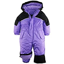 iXtreme Little Girls' Snowmobile One Piece Winter Snowboarding Ski Snowsuit, Purple, 3T