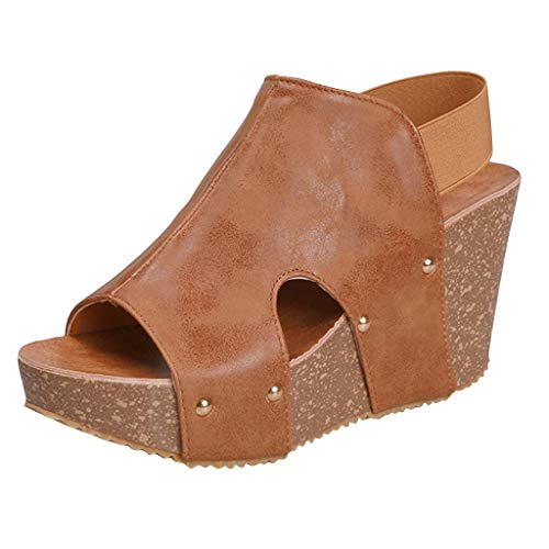 Sherostore ♡ Summer Sandals Women Wedge Sandals Platform Loafers Shoes Solid Fuax Leather Bottom Slipper Shoes Flip Flop - Shank Look Leather